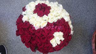 Инь Янь Букет 120шт. роза